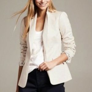 Banana Republic Classic Ivory One-button Blazer